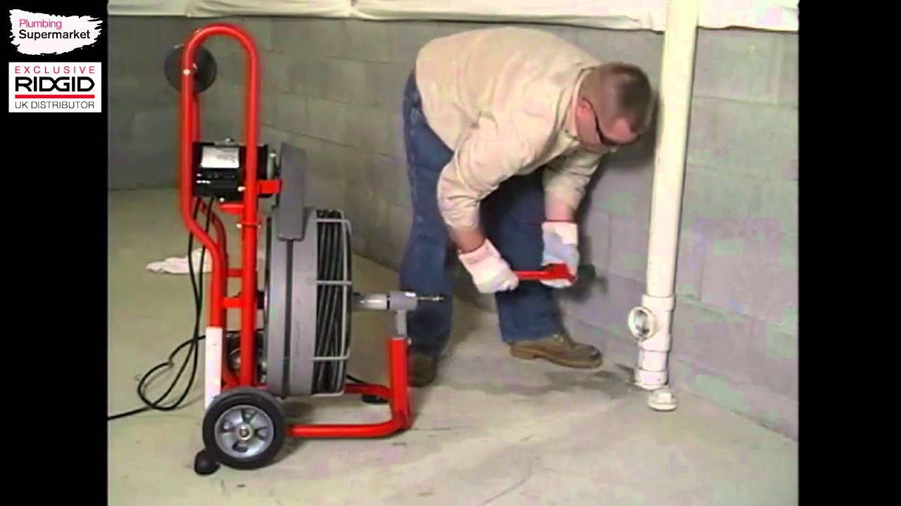 Correct use of the K 750R Drain Cleaning Machine