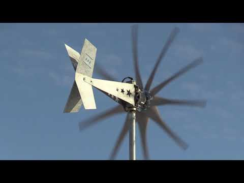 Missouri Wind and Solar's wind turbine V twin tail