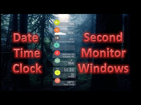 Date Time (clock) Information on Second Monitor (Windows 8) - RainMeter