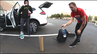 EPIC EXACT FIT BOTTLE FLIP! (While My Friends Skate!)