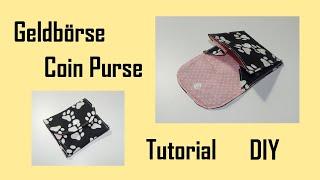 Einfache Geldbörse - Tutorial - DIY - schnelles Nähprojekt - Free Pattern