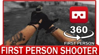 360° VR VIDEO - REAL FIRST PERSON SHOOTER | The Mission 1: Briefcase | FPS Softair Airsoft War