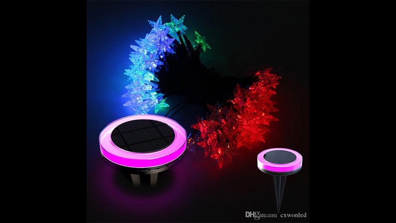 new solar lawn string lights outdoor led christmas light rgb festive decorative lantern waterproof