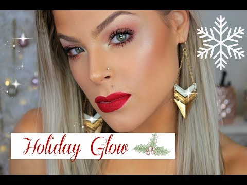 Classic holiday look | Glowing Skin & Red Lip | Valerie Pac
