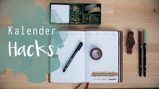 Kalender Hacks - Tipps für Organisation, Dekoration + GEWINNSPIEL