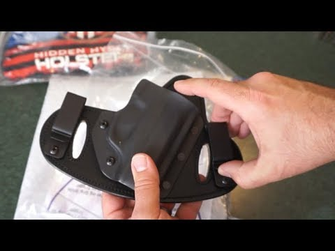 Hidden Hybrid Holsters Two Clip Ruger EC9S, LC9, LC9S OWB/IWB holster
