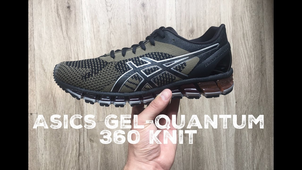 brand new 6dd1c 7eac3 Asics Gel Quantum 360 Knit  Black  Martini Olive    UNBOXING   ON FEET    running shoes   2017   HD