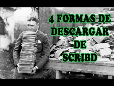 FORMAS DE DESCARGAR DOCUMENTOS DE SCRIBD
