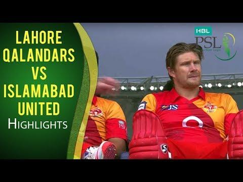 PSL 2017 Match 4: Lahore Qalandars v Islamabad United Highlights