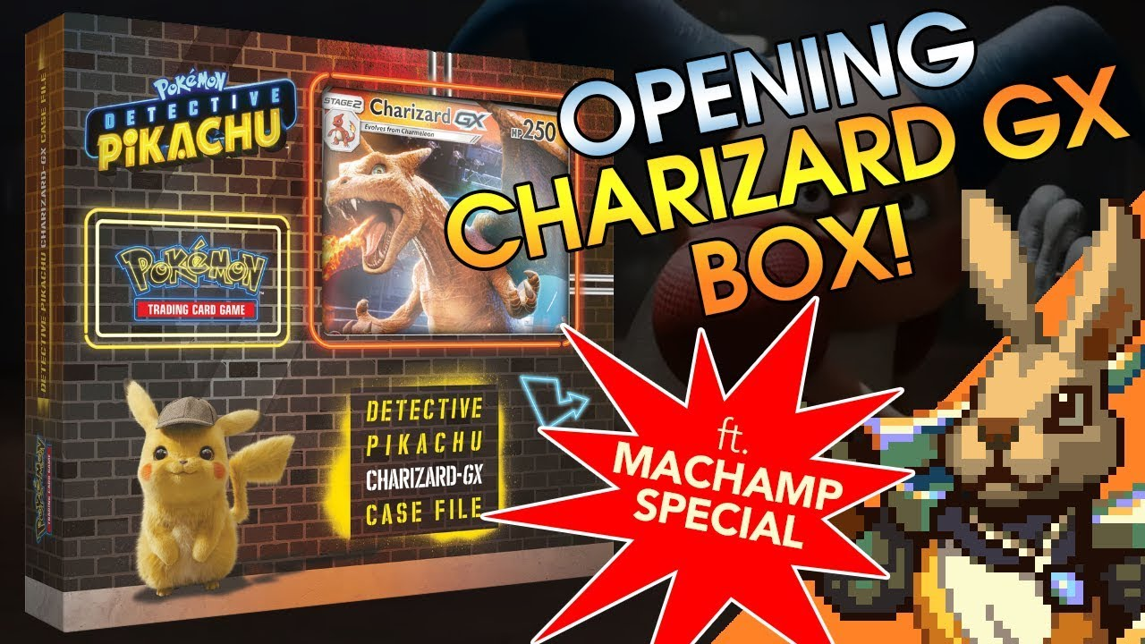 Detective Pikachu Charizard Case File Opening Skyward Fire Games