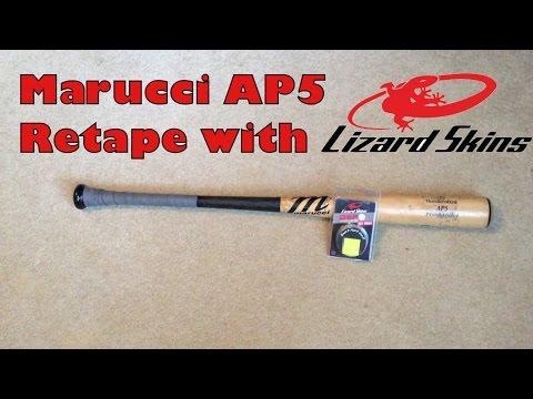 Marucci AP5 Retape with Lizard Skin