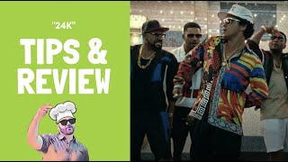 Music Video Tips &amp Review: Bruno Mars - &quot24K Magic &quot(Official Video)