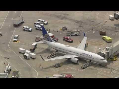 RAW AERIALS: Several passengers injured on United flight to Houston