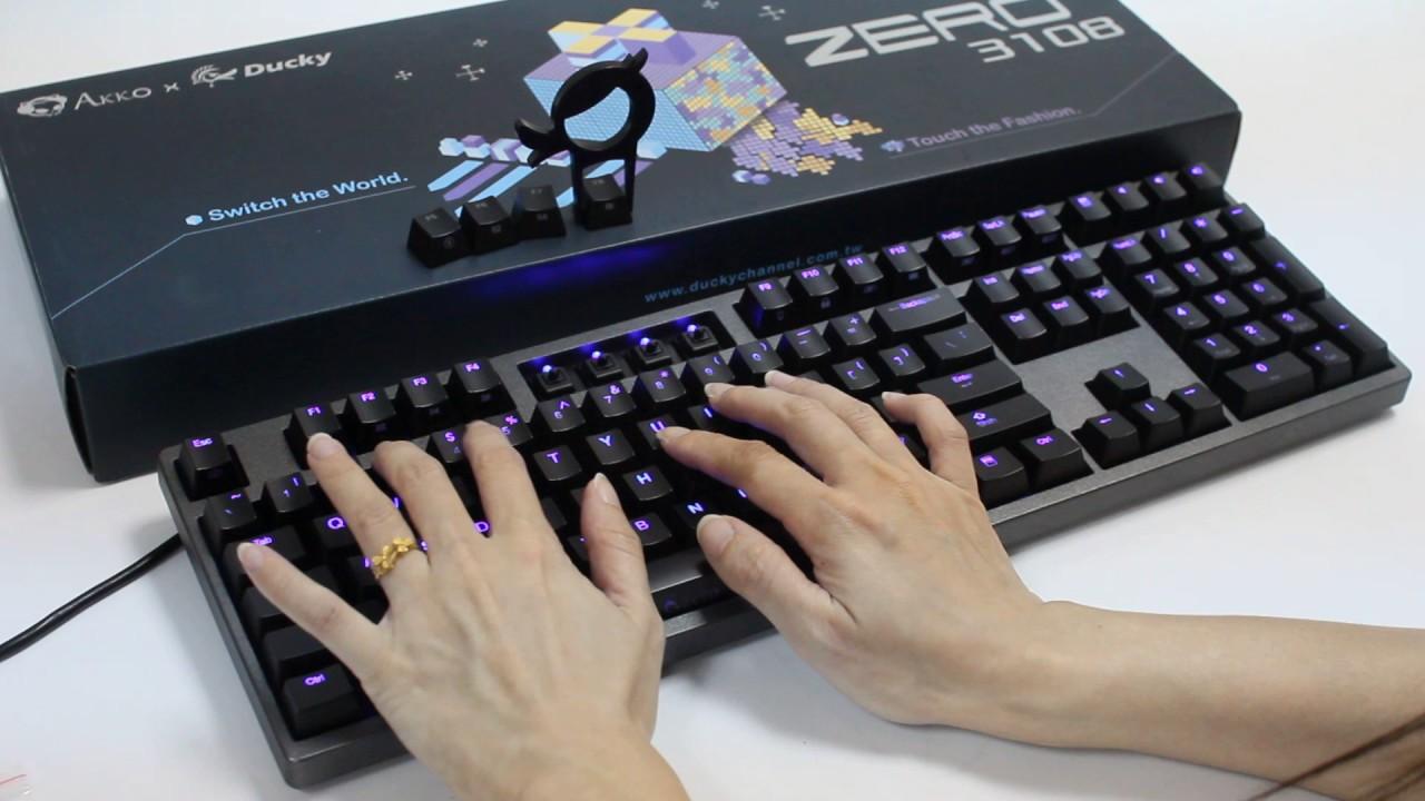 【原價屋】DUCKY ZERO DK 3108 機械式鍵盤-黑軸! - YouTube