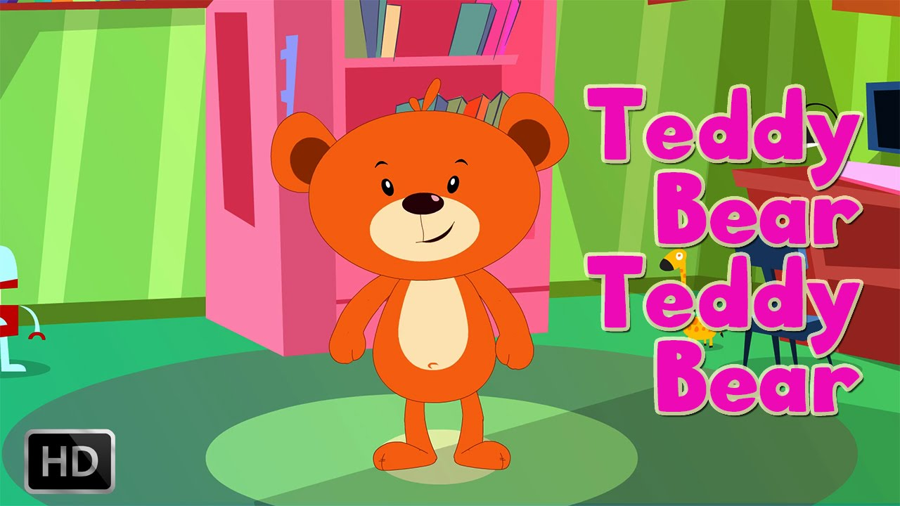 Teddy Bear Teddy Bear Turn Around Nursery Rhyme With Lyrics - Kids ...