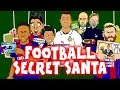 FOOTBALL SECRET SANTA with Ronaldo, Messi, Suarez, Neymar, Zlatan, Muller, Pogba and more! Parody