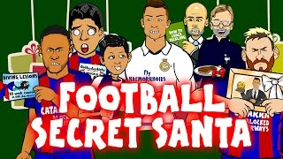 FOOTBALL SECRET SANTA with Ronaldo, Messi, Suarez, Neymar, Zlatan, Muller, Pogba and more! Parody