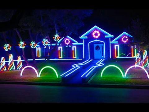 Christmas Lighting.2015 Johnson Family Dubstep Christmas Light Show Featured On Abc S The Great Christmas Light Fight