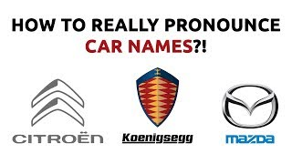 How To REALLY Pr๐nounce Car Names?!