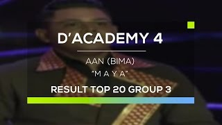Video Aan, Bima - Maya (D'Academy 4 Top 20 Group 3) download MP3, 3GP, MP4, WEBM, AVI, FLV Juni 2018