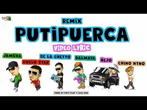 Jamsha ft. Guelo Star, De La Ghetto, Ñejo, Dalmata y Chyno Nyno (Putipuerca) Video Lyric