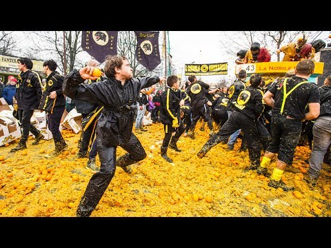 Terry J - #BUCKETLIST Epic 3-day Food Fight In Italy Involves Hurling Tons Of Oranges