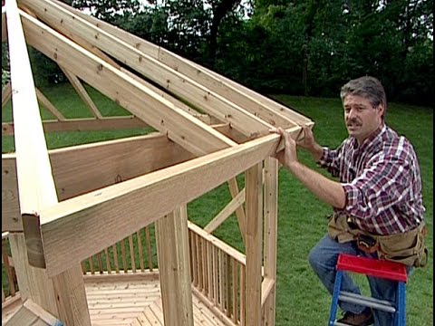 How to build a Gazebo. DIY Timber Frame Wood back yard Gazebo. Simple ...