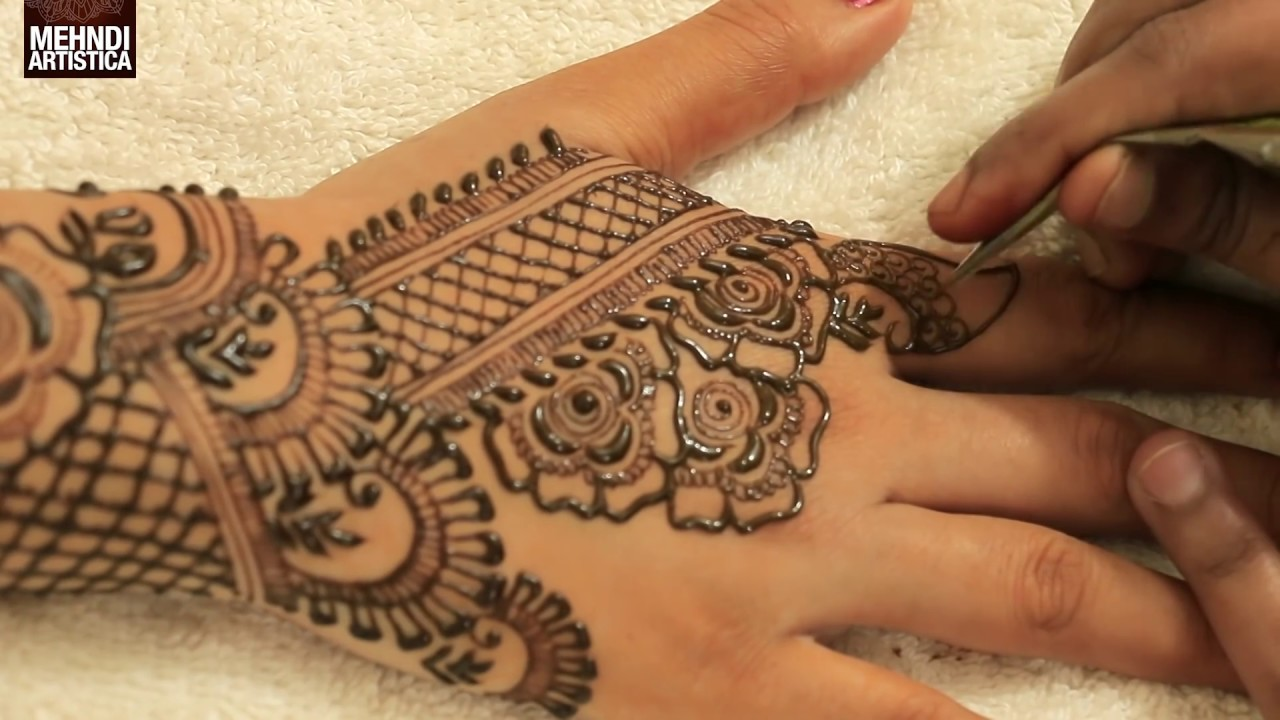 Mehndi Designs For Hands For Engagement : Creative flower upper side mehndi designs for hands heena