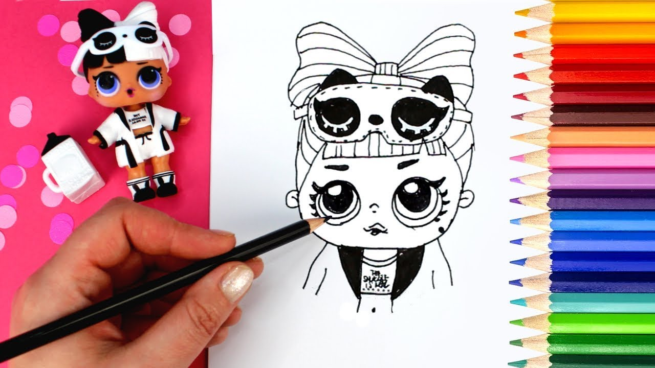 How To Draw An Lol Surprise Doll Confetti Pop Unboxing Drawing