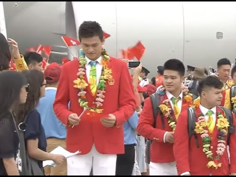 Chinese Mainland Olympic Athletes Delegation Arrives in HK