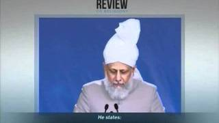The Review of Religions, Directives of Hadhrat Khalifatul Masih V on Jalsa Salana UK 2010