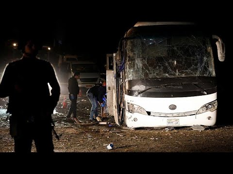 Two dead after blast hits tourist bus near Giza pyramids, Egypt