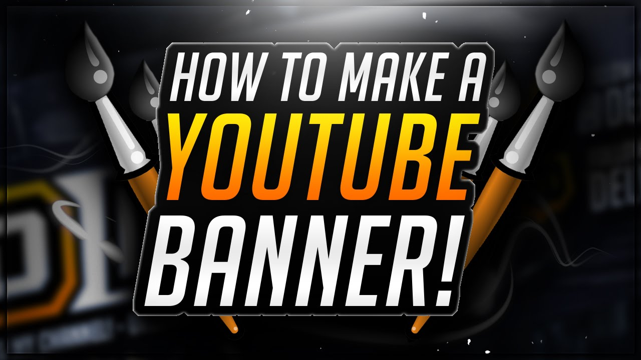 how to make a youtube banner in photoshop cs6 channel art tutorial youtube