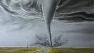 Cómo Dibujar un Tornado a Lápiz Carboncillo Paso a Paso - Dibujo de una Tormenta