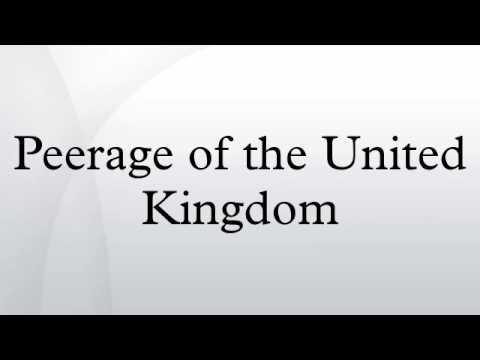 Peerage of the United Kingdom