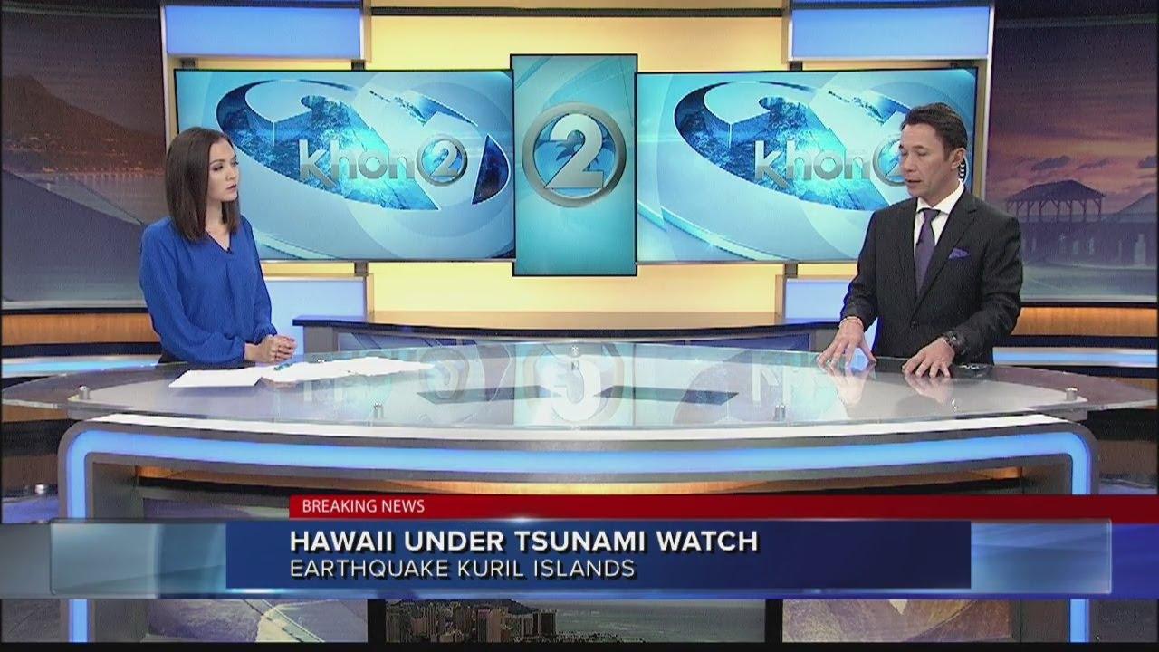 Hawaii Under Tsunami Watch
