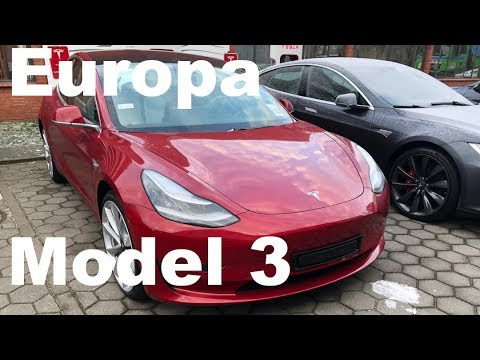 Tesla Model 3 Europamodell Bilder