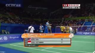 2010 Badminton  Asian Games MD Final  INA vs MAS