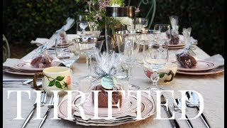 Thrift Store Table Decor & Dishware