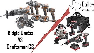 Upgrading to Ridgid Gen5x from Craftsman C3 19 2