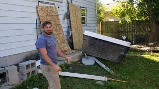Amazing Porch Demolition. WAIT FOR IT!!!
