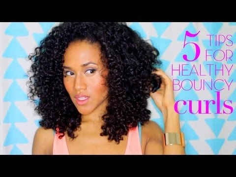 5 Tips For Healthy Curly Hair From Dry Amp Damaged Youtube