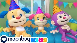 Laugh and Learn with Fisher Price - Rainbow Party! | Educational Cartoons for Kids | Moonbug Kids TV