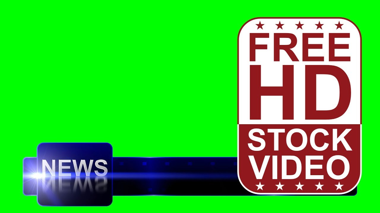 Free Stock Videos Animated Lower Third News Title With