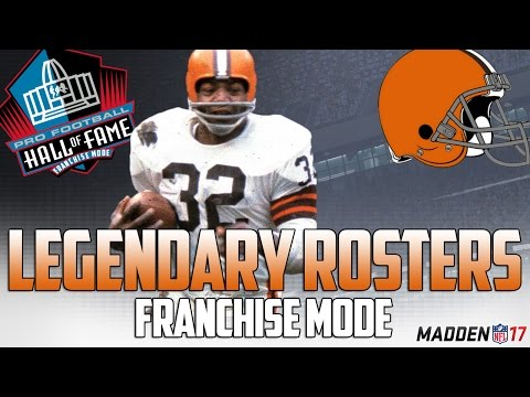 Legendary Cleveland Browns Roster   Madden 17 Connected Franchise   Jim Brown + Otto Graham