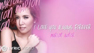 Marion - I Love You Always Forever (Official Lyric Video)
