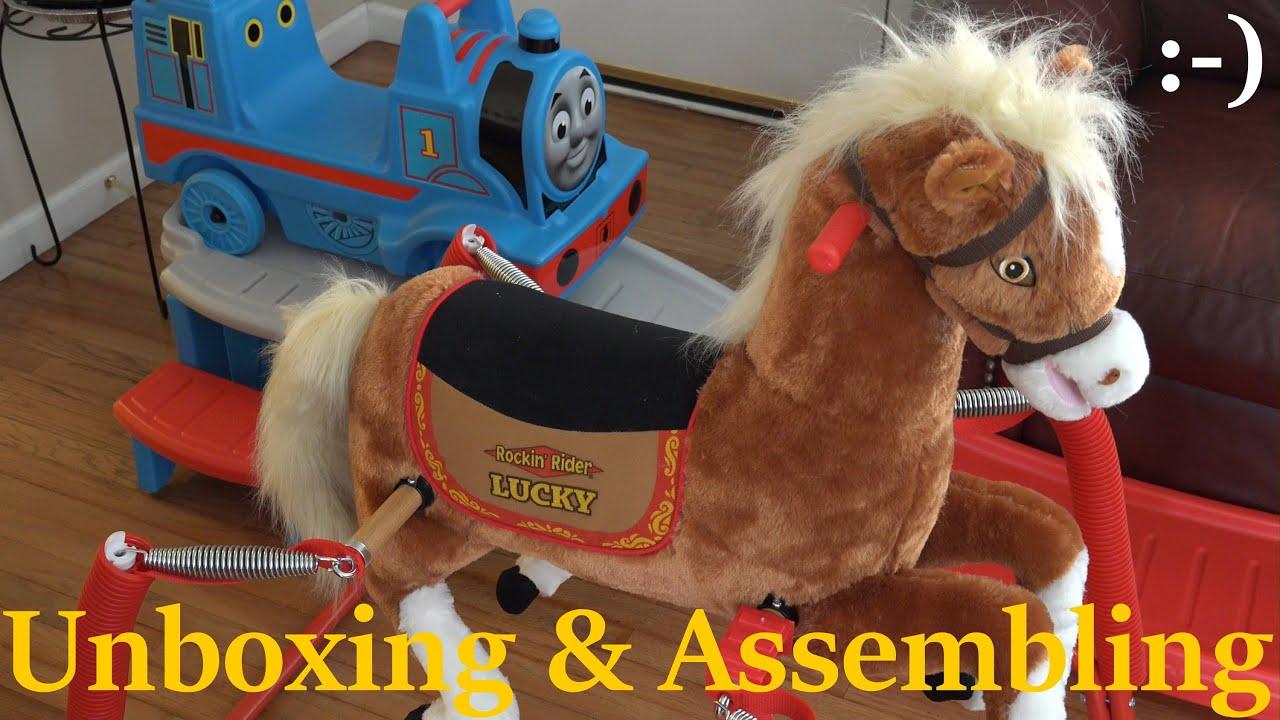 Kiddie Horse Ride: Unboxing & Assembling Rockin\' Rider Little Pony ...