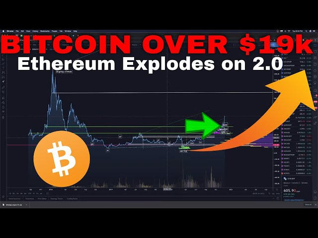 WOW! BITCOIN Breaks $19,000 & Ethereum Market Explodes on 2.0 Launch!