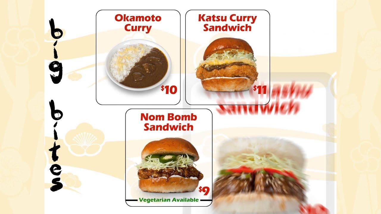 Okamoto Kitchen Summer 2015 Menu Youtube