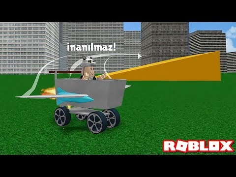 Kanatlı Sepet Arabasıyla Rampalardan Uçtuk! - Panda ile Roblox Shopping Cart TURBO
